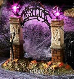 NEW Dept 56, Last Laugh Asylum #6000662, Lighted Colored 2 Piece Halloween