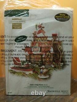 NEW Dept 56 Santa Sleigh Maker Sled Factory Shop North Pole Christmas Village