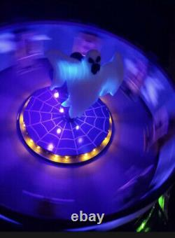 NEW Lemax Spooky Town Illuminated & Animated GHOST AROUND Carnival Ride #74221