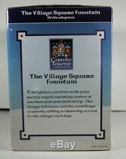 NEW Lemax Village Square Fountain Angel Cherubs Christmas Village Water Lighted