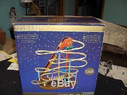 NEW MR CHRISTMAS WORLD FAIR Cyclone Roller Coaster Action/Lites Music Box NIB