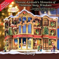 NEW RARE Lighted & Narrated Story, The Night Before Christmas. Village Building