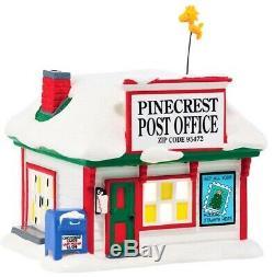 NEW RETIRED, Dept 56, Peanuts Village PInecrest Post Office #4039724 Building