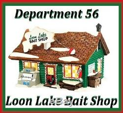NEW Rare Dept 56 ORIGINAL SNOW VILLAGE Loon Lake Bait Shop #4030739 Lighted