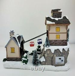 NEW St. Nicholas Square Christmas Village House and Gondolas Light Motion
