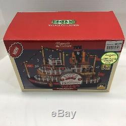NIB LEMAX RIVER PRINCESS Lighted sound Christmas boat Plymouth Corners SEE VIDEO