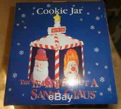 NIB New Year Without A Santa Claus Heat Snow Miser Mrs Santa Claus Cookie Jar