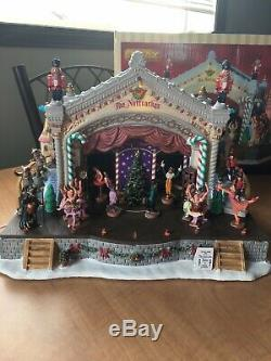 Never used in box Lemax Retired The Nutcracker ballet suite, animated lighted