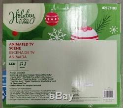 New Holiday Living animated TV Scene Christmas Town Compare To Carole Towne