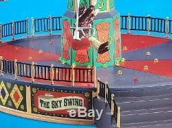 New Lemax Christmas Carnival The Sky Swing Lights Music Motion NIB! #84379