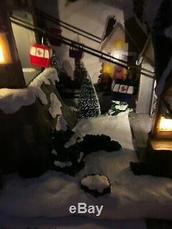 New St Nicholas Square Gondola House SKi Hill Resort Animated Lighted Village