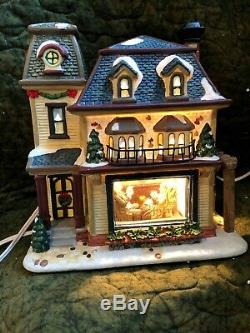 Norman Rockwell Collection Christmas Village House, Buildings & People Lot of 9