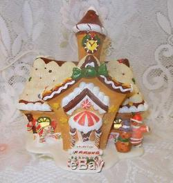 OWell 2001 Limited Ed Lighted Christmas Gingerbread House Cookie Candy BOY GIRL