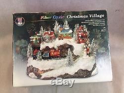 Puleo Fiber Optic Christmas Village Mountain With Train RARE