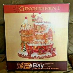 RARE Cracker Barrel GINGERMINT CHRISTMAS Fiber Optic GINGERBREAD HOUSE WithBox