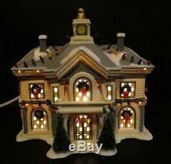 RARE Dept 56 Christmas Story Hammond Town Hall 06281 Retired