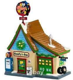 RARE Dept 56 Disney Village, Goofy Gas Station Mechanic Shop #4027600, Christmas