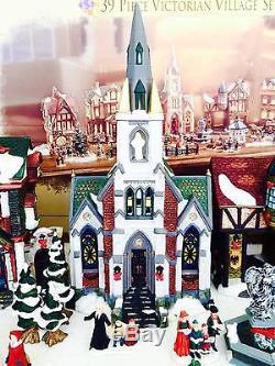 RARE Grandeur Noel Collectors Edition 39 Pc Victorian Village Christmas Set 1999