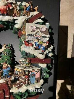 RARE Hawthorne Village Rudolphs Christmas Town Lighted Wreath Misfit Bumbles