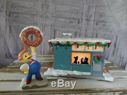 RARE Hawthorne Village The Simpsons Lard Lad Donuts Shop Christmas Village Decor