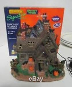 RARE-LEMAX -SPOOKY TOWN-VICKI'S CATTERY-HAUNTED HOUSE (Retired) MIB