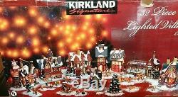 RARE Santa's Village Kirkland 32 Piece North Pole Shop Lighted Christmas