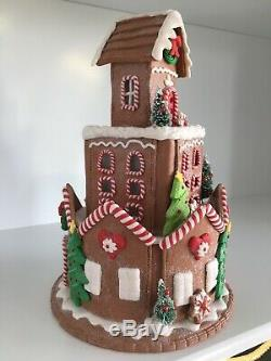 RAZ Imports Lighted 12 Round Gingerbread House Christmas NEW! 3816365