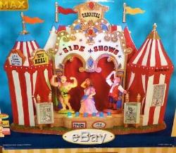 RETIRED Animated Lemax Side Shows #64492, CI\ircus Carnival Fair Freak Show