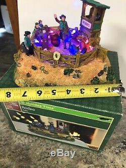 Rare 2009 Cowboy Country Rodeo Bull Riding Holiday Time Christmas Village House