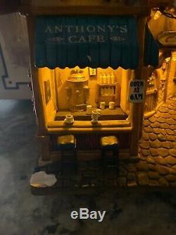 Rare Carole Towne Lemax Village Taste Of Italy Christmas Wall Fiber Optic In Box