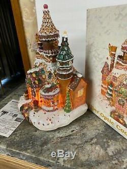 Rare Fiber Optic Gingerbread House Animated Moving Pillar Gumdrop Candy Cane