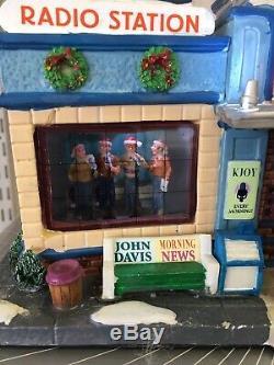 Rare KJOY 1360 Radio Station Michaels Lemax Signature RETIRED Christmas Village