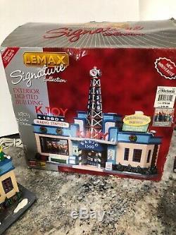 Rare KJOY 1360 Radio Station Michaels Signature RETIRED Christmas Village MIB