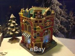 Lemax Christmas Village Michaels.Rare Lemax Christmas Incredible Toy Emporium Lights Music