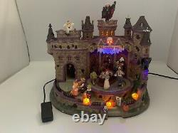 Rare LEMAX SPOOKY TOWN 2008 HALLOWEEN PARTY Lights No Sound As Is Read