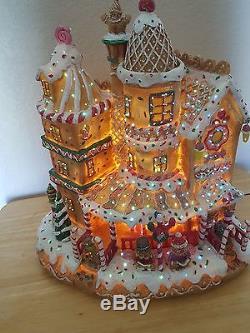 Rare Vintage Cracker Barrel Fiber Optic Gingerbread House Home Decor Christmas