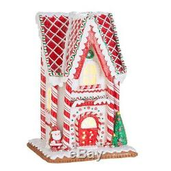 Raz Imports Kringle Candy Co. 13 Peppermint Gingerbread Lighted House