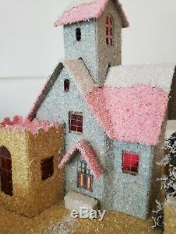 Reproduction Vintage Putz House Christmas Village