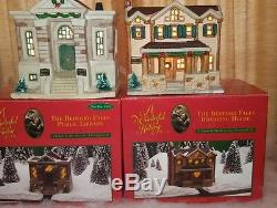 Set of 10 Bedford Falls Lighted Porcelain Buildings from It's a Wonderful Life