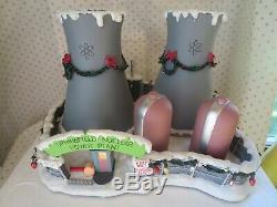 Simpsons Christmas Hawthorne Village Springfield Nuclear Power Plant with COA