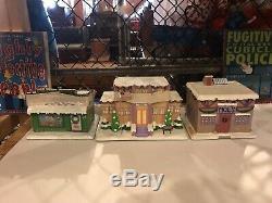 Simpsons Christmas Village Nine Piece Set Just Opened To Display (2002)