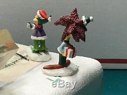 Simpsons Figures Holiday Mischief Hawthorne Christmas Village Festive Friends