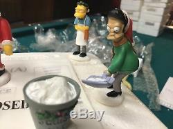 Simpsons Figures Merry Christmas To Me Hawthorne Christmas Village Festive