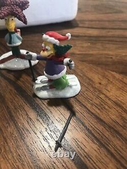 Simpsons Hawthorne Christmas Village'Holiday Mischief' COA-2008 Simpson Holiday