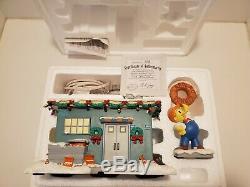 Simpsons Hawthorne Christmas Village Lard Lad Donut Shop Retired