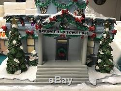 Simpsons Hawthorne Christmas Village Springfield Town Hall 2004 WithCOA In Box