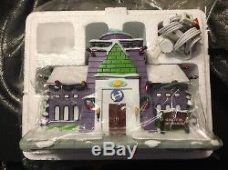 Simpsons Hawthorne Village Christmas Stone Cutters Daycare With COA