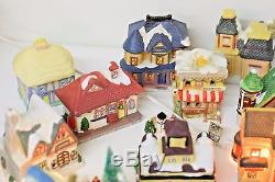 Special 61pc Lighted Christmas Train Set Village With Towns People, Deer & Trees