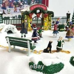 St Nicholas Square Skating Pond Illuminated Christmas Village Ice Skate Tested