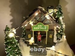 St Nicholas Square Twilight Slopes Downhill SKi Resort Animated Lighted Village